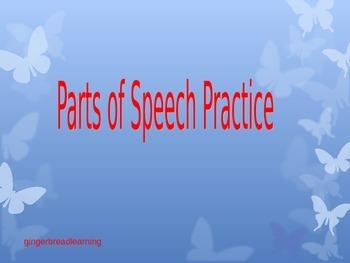 Parts of Speech Practice