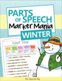 Parts of Speech Practice Activity or Center for Winter and Christmas