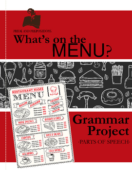 Parts of Speech Practice: Create a Menu (Middle School Grammar)