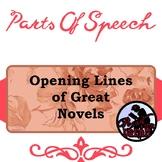 Parts of Speech Practice: Opening Lines of Great Novels