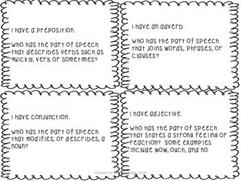 Parts of Speech Practice Pack