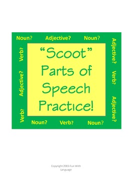 Parts of Speech Practice Using Scoot Game for ESL or Elementary
