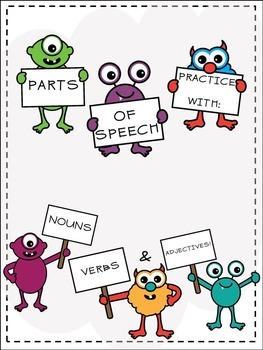 Parts of Speech Practice With Monsters!