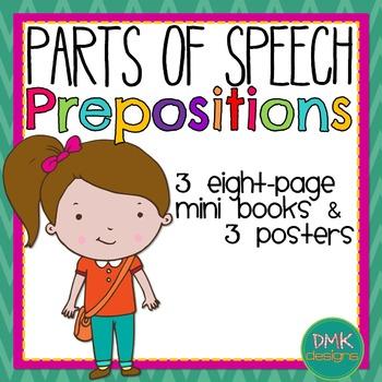 Parts of Speech: Preposition Mini Books & Poster Set
