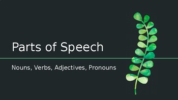 Parts of Speech Presentation