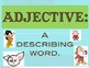 Parts of Speech Printable Poster Nouns Verbs and Adjectives