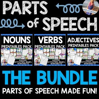 Parts of Speech Printables BUNDLE