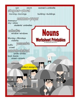 Parts of Speech Printables  Nouns CCSS