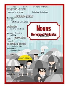 Parts of Speech Printables  Nouns CCSS