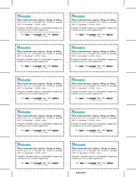 Parts of Speech Prompt Cards