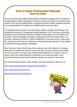 Parts of Speech & Punctuation Diagnostic