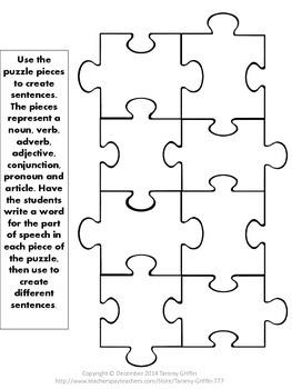 Parts of Speech Puzzle