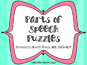 Parts of Speech Puzzles