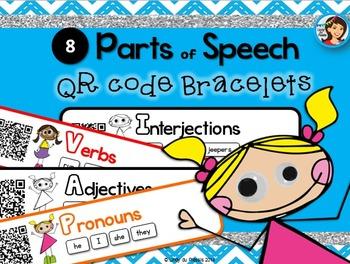 Parts of Speech QR Code Bracelets