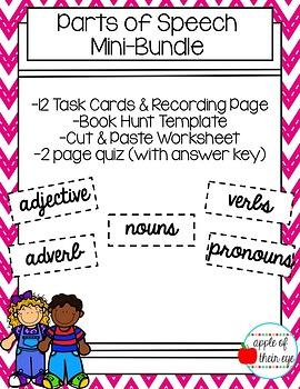Parts of Speech Mini Bundle  (CCSS Aligned)