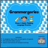 FREEBIE Parts of Speech Review: Grammargories Activity