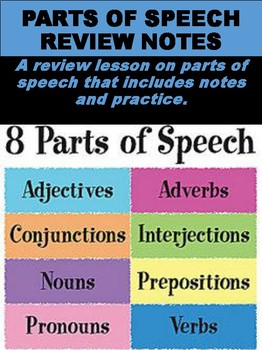 Parts of Speech Review Notes