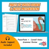 Parts of Speech Review & Notes Presentation