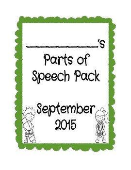 Parts of Speech Review Pack
