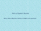 Parts of Speech Review Power Point