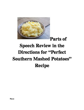 """Parts of Speech Review in the Directions for """"Perfect Sout"""