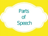 Parts of Speech Review-nouns, verbs, adjectives