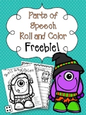 Parts of Speech Roll and Color FREEBIE!