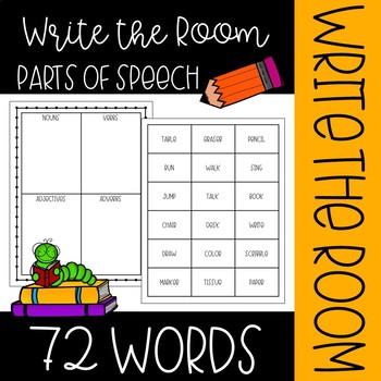 Parts of Speech Room Hunt
