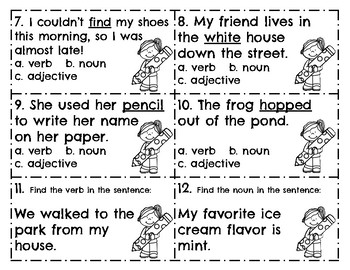Parts of Speech SCOOT game l Verbs l Nouns l Adjectives by life in ...