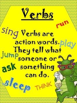 Parts of Speech SPRING Grammar Pack!