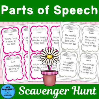 Parts of Speech Scavenger Hunt
