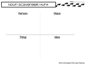 Parts of Speech Scavenger Hunt BUNDLE