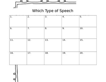 Parts of Speech Scoot Game (editable)