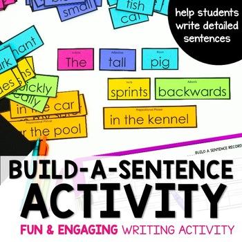 Parts of Speech - Sentence Building Activity