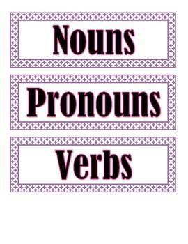 Parts of Speech Sentences