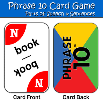 "Parts of Speech & Sentence Game - ""Phrase 10"""