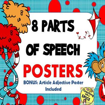 Parts of Speech Seuss Inspired