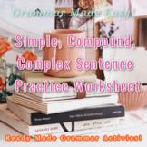 Parts of Speech & Simple, Compound, Complex Sentence Practice!!!