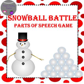 Parts of Speech Snowball Battle Game