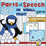 Parts of Speech Snowball Fight SMARTboard Game