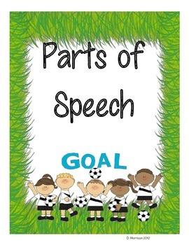 Parts of Speech - Soccer Theme
