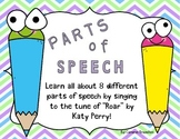 Parts of Speech Song Lyrics (Can be sung to Katy Perry- Roar)
