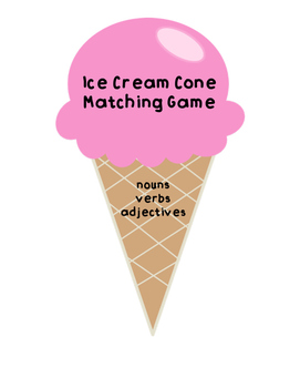 Ice Cream Parts of Speech Sort