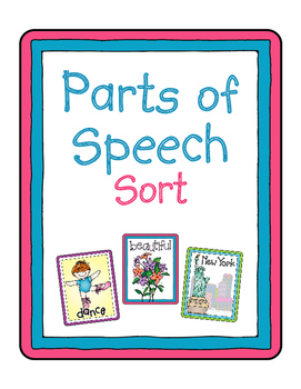 Parts of Speech Sort