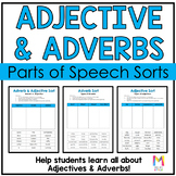 Parts of Speech Sort - Adjectives and Adverbs