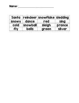 Parts of Speech Sort - Christmas Theme