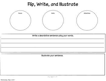 Parts of Speech Sort, Flip, and Write!