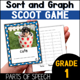 Parts of Speech Sort, Graph and Scoot with Adjectives, Nouns and Verbs