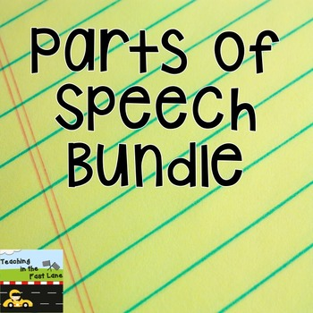 Parts of Speech Sort Literacy Center Bundle