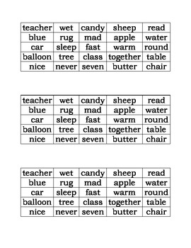 Parts of Speech Sort: Nouns